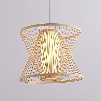 Modern Minimalistische Kreativ Design Runde Pendelleuchte Bambus 1