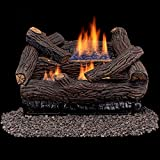 Duluth Forge Vent Free Dual Fuel Gas Log Set - 18 in. Stacked Red Oak - Remote Control