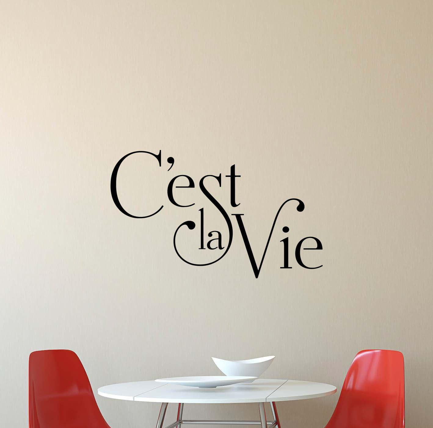 Amazon Com C Est La Vie Wall Decal Family Living Room Quote