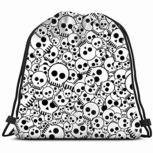 Skulls Skull Illustrations Clip Art Drawstring Backpack Gym Dance Bags For Girls Kids Bag Shoulder Travel Bags Birthday Gift For Daughter Children Women ()