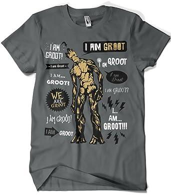 50c023171 413-Camiseta Guardianes De La Galaxia - Groot Famous Quotes (Olipop)  Amazon .es  Ropa y accesorios