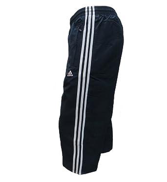 6b49c70293b4 Adidas Mens 3 4 Pant Woven Three Quarter Track Pants 3 Stripe Essential 3 4  Navy Black S M L XL New (M