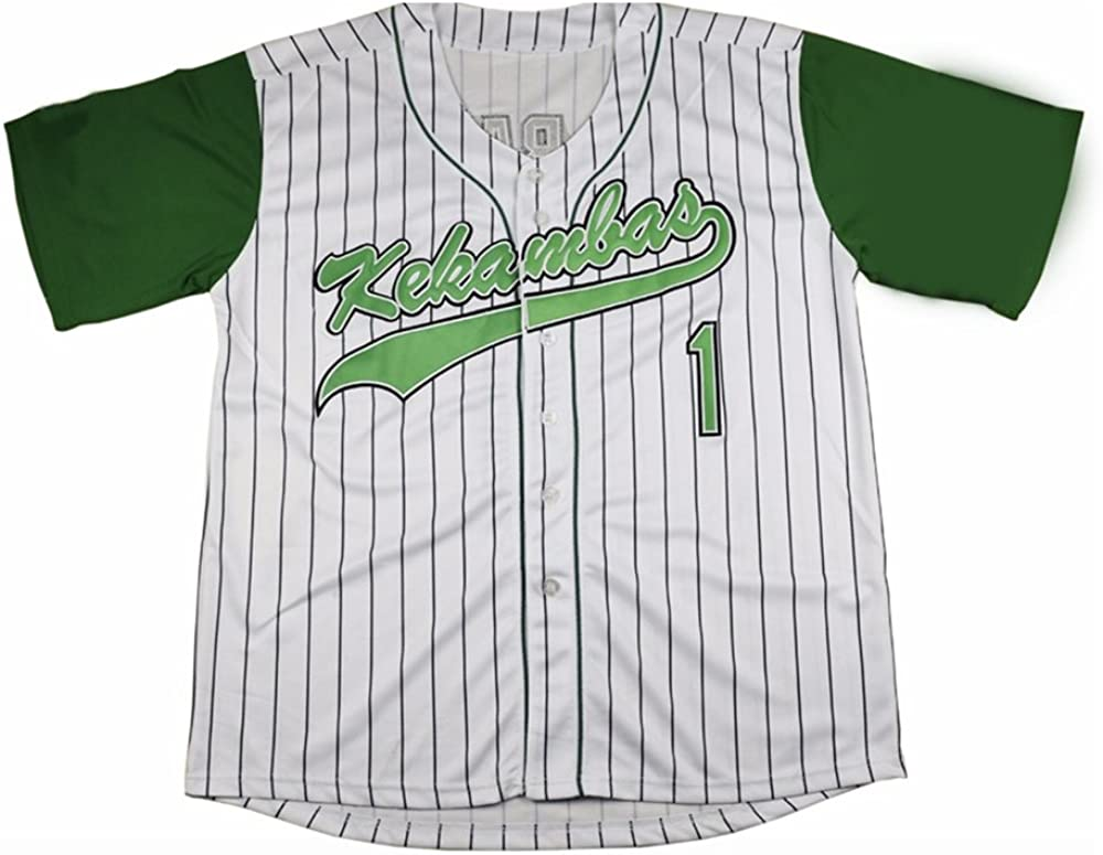 AIFFEE Mens #1 Baseball Jersey G-Baby S-XXL White Color