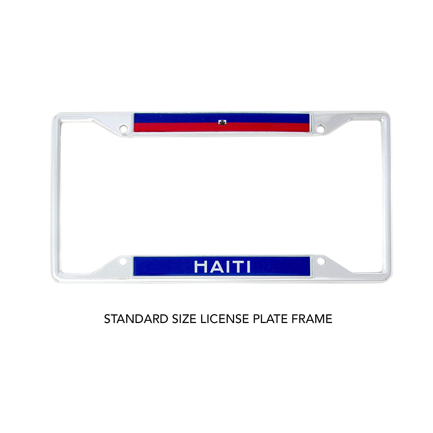 Desert Cactus Country of Haiti Flag License Plate Frame for Front Back of Car Vehicle Truck Haitian
