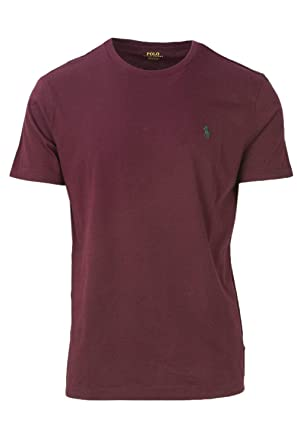 bb07c6ee0ed28 Image Unavailable. Image not available for. Colour  Ralph Lauren Polo Men s  Classic Fit Crew Neck T-Shirt CLS Wine ...