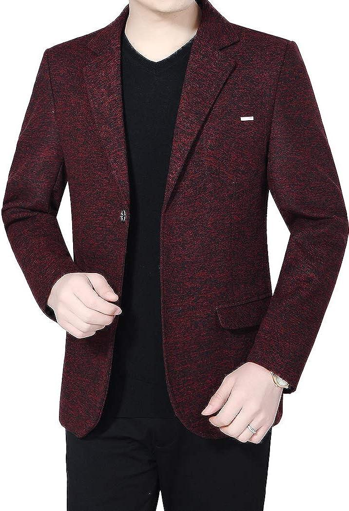 Michealboy Men/'s Blend Blazer Slim Fit Casual Jacket Two Button for Autumn Separate Suit