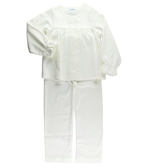 1f3662820 Laranjinha pijama largo niña cuello redondo 2 a 3A crema  Amazon.es ...
