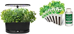 AeroGarden Bounty Basic Indoor Hydroponic Herb Garden, Black & Salad Greens Mix Seed Pod Kit