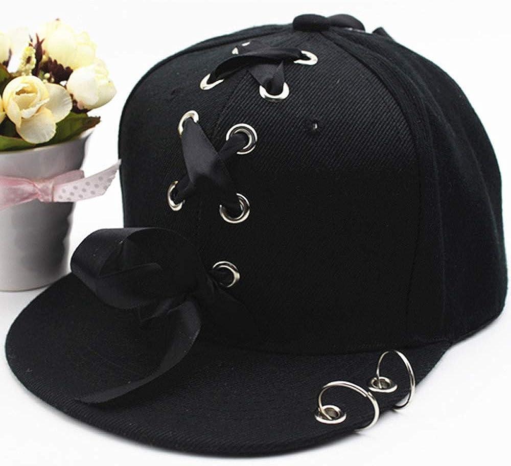 Wxtreme Korean Version of The Parent-Child Hat Mens Non-Mainstream Iron Ring Lace Baseball Cap Childrens Street Dance Hat Female Couple Hip-hop Hat Casual Caps