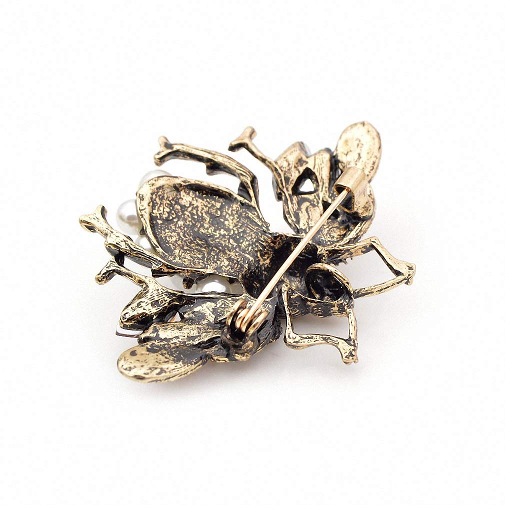 Jana Winkle 3 Colors Choose Pearl Rhinestone Big Bee Brooches Women Insect Pin Gift Coffee by Jana Winkle (Image #7)