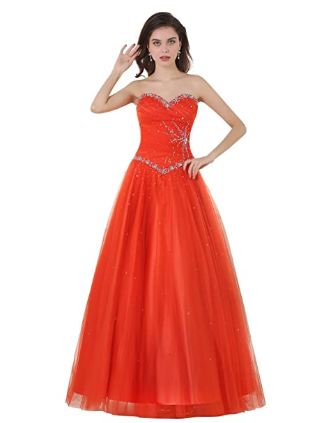 Adasbridal-Increible tul y saten escote de corazon A- linea de vestidos de novia