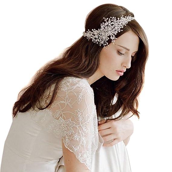 Diadema de pedrería de cristal para Novia - Accesorios de boda para el Cabello.