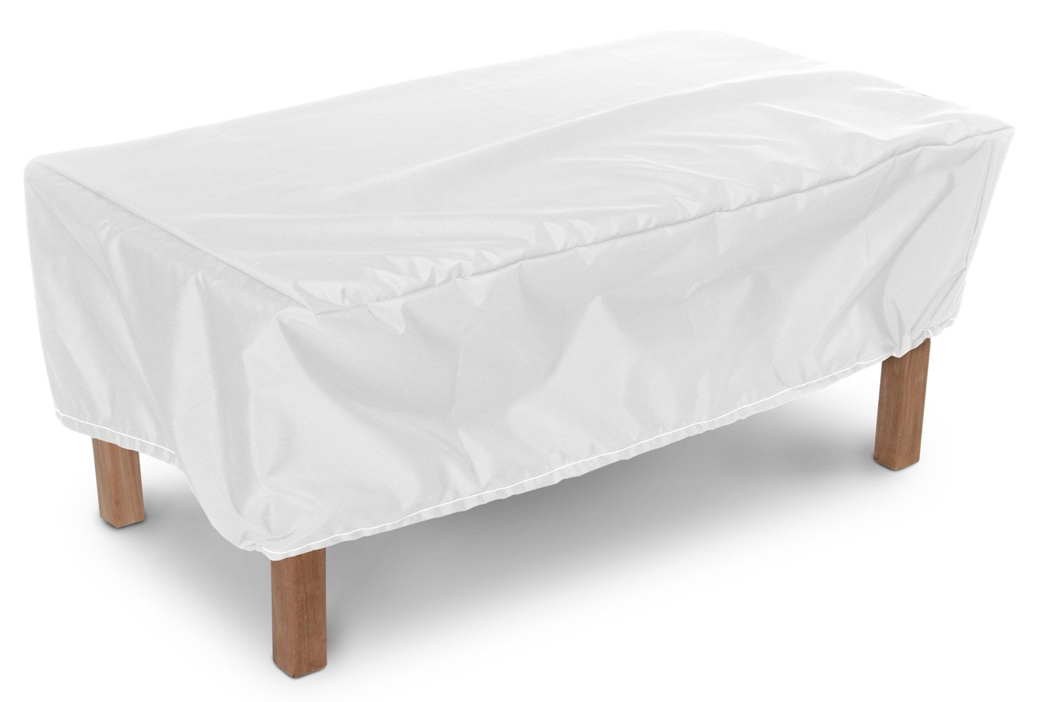KoverRoos Weathermax 14265 48 by 24-Inch Ottoman/Small Table Cover, 48 by 24 by 15-Inch, White