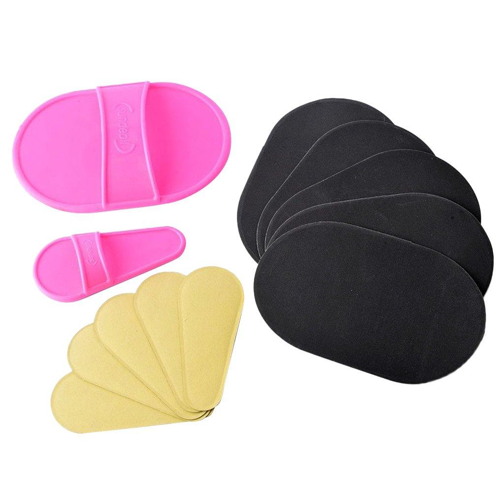 Homyl 12x Esponjas Depilación de Piernas Quitar Pelo de Cuerpo Salón de Belleza