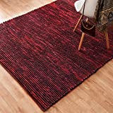 Alexander Home Hand-woven Thais Poinsettia Felted Wool Rug (5' x 7'6)