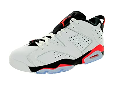 Jordan Nike Men's Air 6 Retro Low White/Infrared 23-Black Basketball Shoe 12