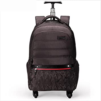 PLYY Impermeable Multifunción Ligero Mochilas Ordenador portátil Backpacks 4 Ruedas giran 360 ° para Negocio/