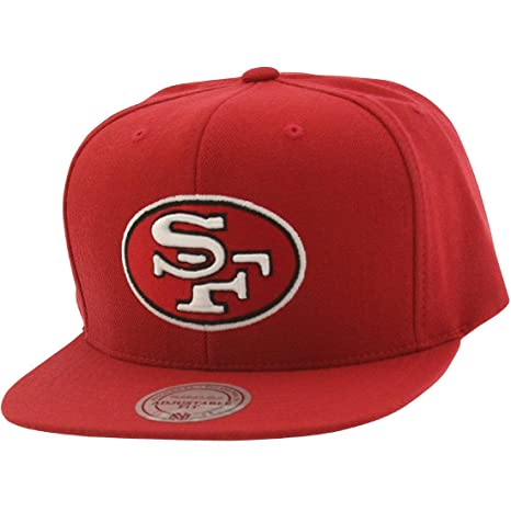3a97db1a011 Image Unavailable. Image not available for. Color  San Francisco 49Ers Red  Mitchell   Ness Classic Logo Snapback Hat