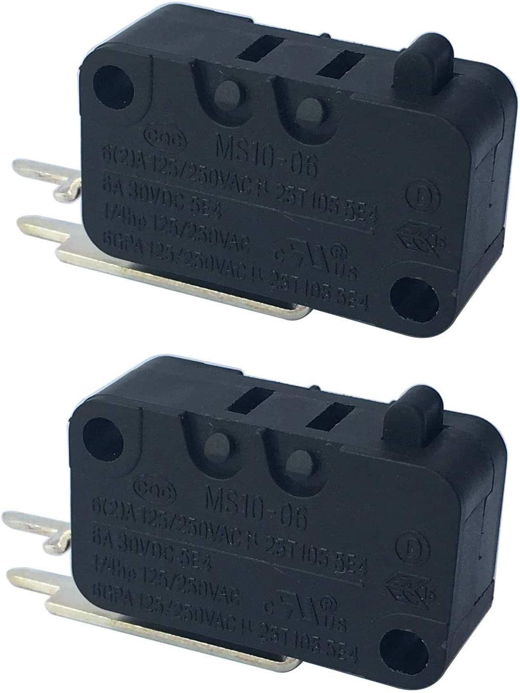 W10195039 Dishwasher Float Switch (Pack of 2) for Whirlpool KitchenAid Kenmore Maytag Dishwasher WPW10195039 MS10-06 PS11750031