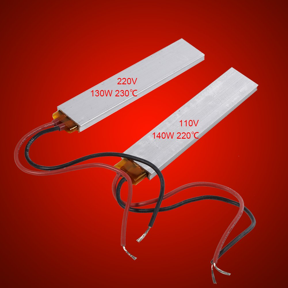 220V 130W 230℃ 110V 140W 230℃ Constant Temperature PTC Heating Element Thermostat Heater Plate 220V 130W