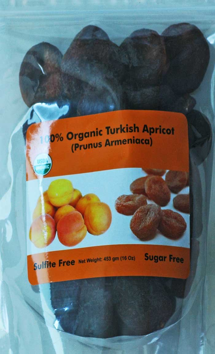 Indus Organics Jumbo Turkish Apricots, 1 Lb (Case Pack of 12) Sulfite Free, No Added Sugar, Premium Grade, Freshly Packed