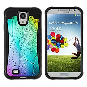CAZZ Rugged Armor Slim Protection Case Cover Shell // Neon Colors Rain Glass // Samsung Galaxy S4