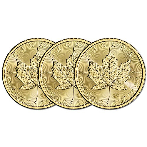 (3) 2016 Canada Gold Maple Leaf 1 oz