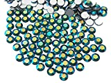Emerald AB, Preciosa Genuine Czech Crystals, 8-faceted Rhinestone Flatbacks, ss6 (2mm) ~ 1440pcs