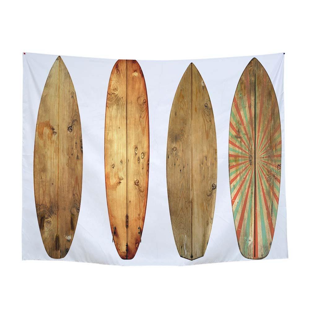 GJC Toalla De Playa De Madera del Tapiz De La Impresión De Digitaces del Tapiz De La Tabla Hawaiana De La Tabla De Surf,C,200*150CM: Amazon.es: Hogar