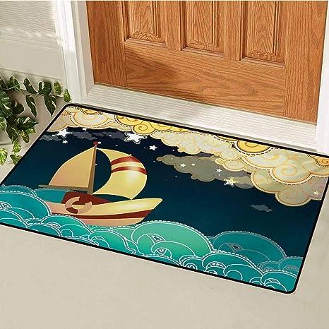 Amazon com : GUUVOR Ship Front Door mat Carpet Kids Fairy