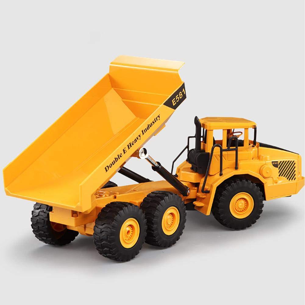 EnjoyyousGiocattolo dell'autocarro con cassone ribaltabile del modello del giocattolo per i bambini Giocattolo del veicolo dell'attrezzatura pesante di plastica solida per i bambini Ragazzi & ragazze