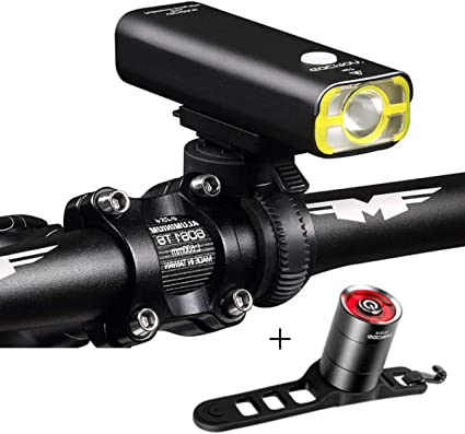 Bike Bicycle Light 400Lumens Head Front Light USB Rechargeable LED Night Light
