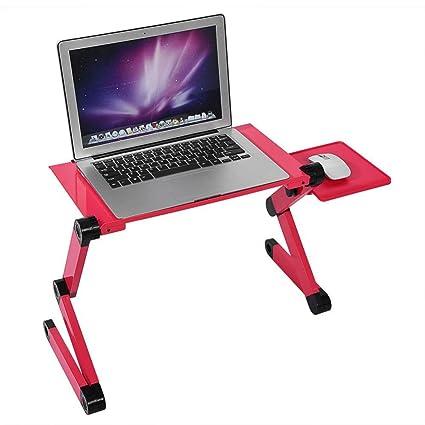 WTTHCC Base Ajustable Y Plegable para Laptop Mesa para Ordenador con Soporte para Ratón para Notebook