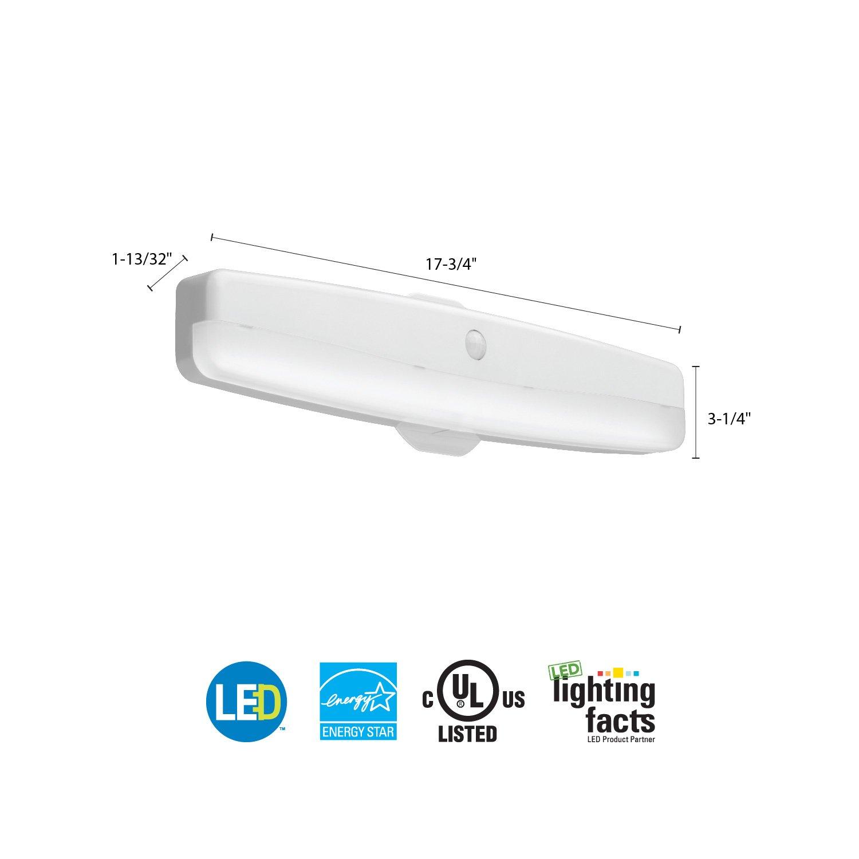 "Lithonia Lighting FMMCL 18 840 PIR M4 LED Flush Mount Closet Light with  Motion Sensor, White, 18"" - - Amazon.com"