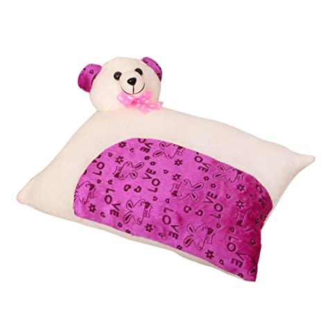 b34f266b002 Buy HH Harry   Honey Rectangular FEATHERY Soft Baby Pillow OFFWHITE-Purple  Online at Low Prices in India - Amazon.in