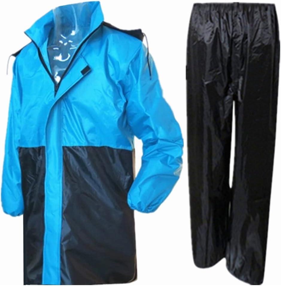 BOZEVON Unisex Erwachsene Regenanzug Jacke und Hose Wasserdicht Regenjacke Regenhose Regenmantel f/ür Fahrrad Motorrad