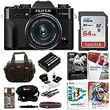 Fujifilm X-T20 Digital Camera with 15-45mm Lens (Black) + Photo/Video Editing Software, Sandisk 64gb & Focus Camera Essentials Bundle