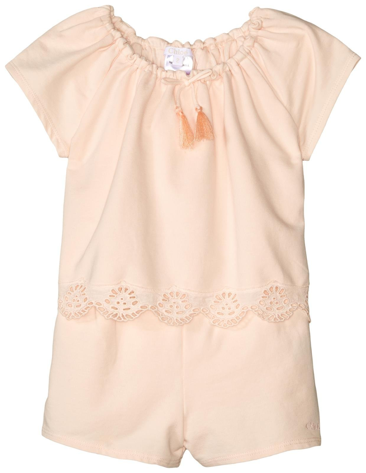 Chloe Baby Girls' Milano Short Overalls Toddler, Rose Pale, 3A