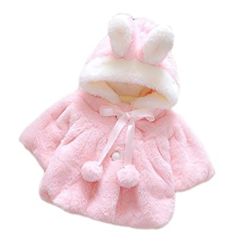 ee41dcb547fa Amazon.com   Cute Fluffy Thick Faux Fur Baby Infant Girl Winter Warm ...