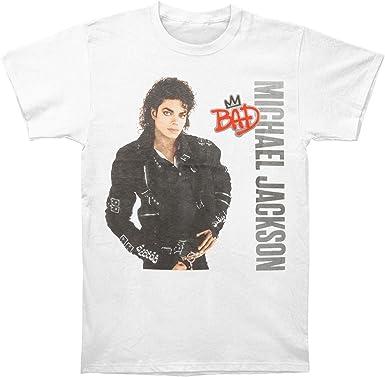 Mabby Camiseta con Logo de Michael Jackson Bad Silver para Hombre: Amazon.es: Ropa y accesorios