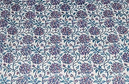 Cloth Material Fabric Block Printed Garment Fabric Indian Hand Block Print Fabric Pure Cotton Floral Print Fabric Handmade Sanganeri