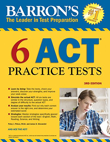 Top 10 recommendation barrons act 6 practice tests 2019