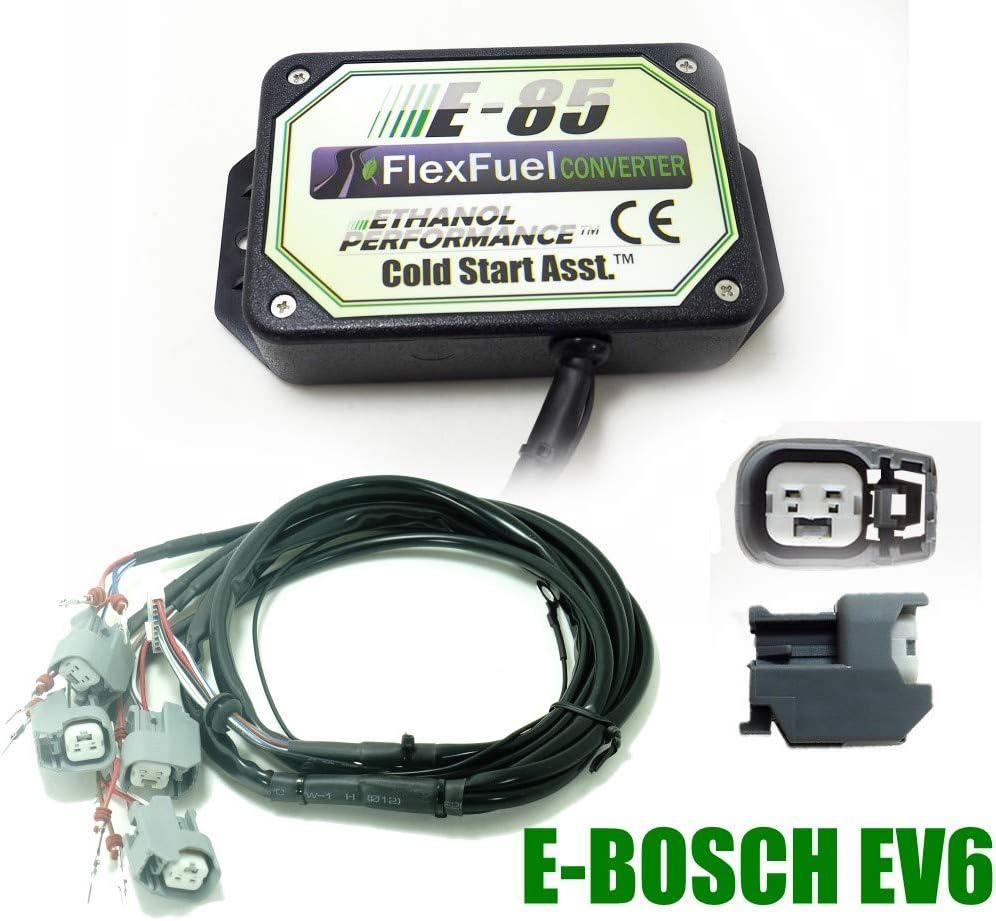 Voiture /à l/éthanol 4cyl E85 Kit de Conversion Carburant Alternatif /à l/éthanol avec d/émarrage /à Froid convertisseur de bio/éthanol Kit Ethanol E85 4-cylindres Nippon Denso biocarburant E85