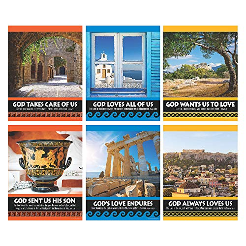 Fun Express - Athens Vbs Poster Set - Educational - Learning Aids - Learning Charts - 6 Pieces -