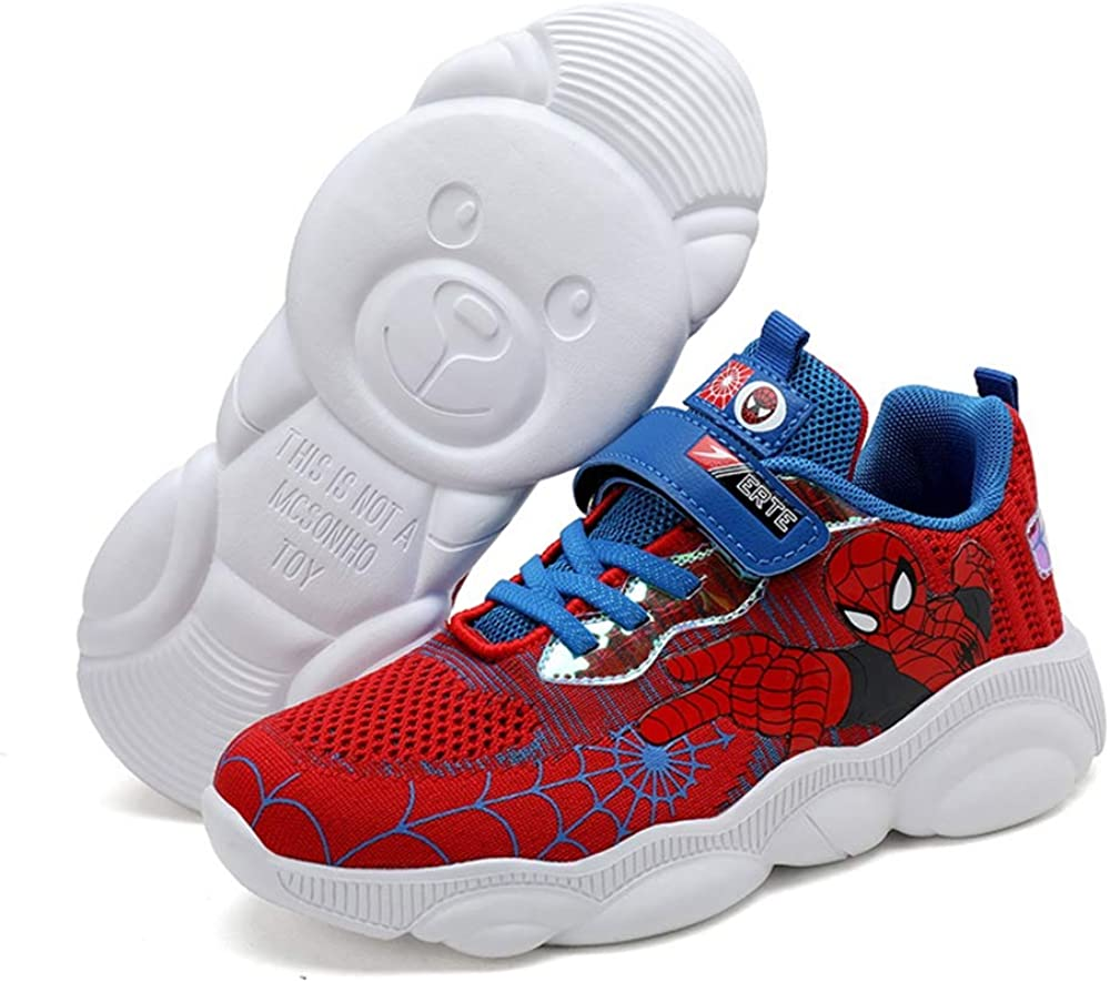 ANKIDS Kids Spider-Man Sneakers Bears Running Shoes Boys Girls