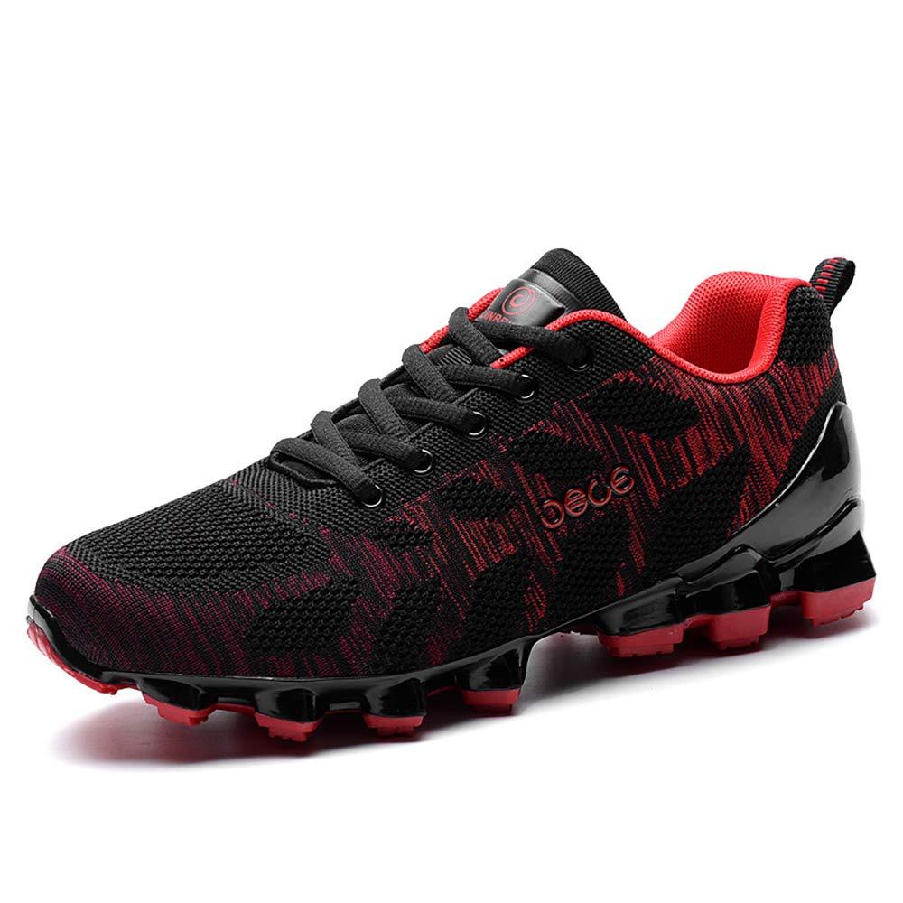 ETYGYH Herrenschuhe, Herbst-und Winter-Leichtbaufelbahn Sportlauf Running Schuhe Fashion Non-Slip Fliegenden gewänder Mesh Schuhe,A,43
