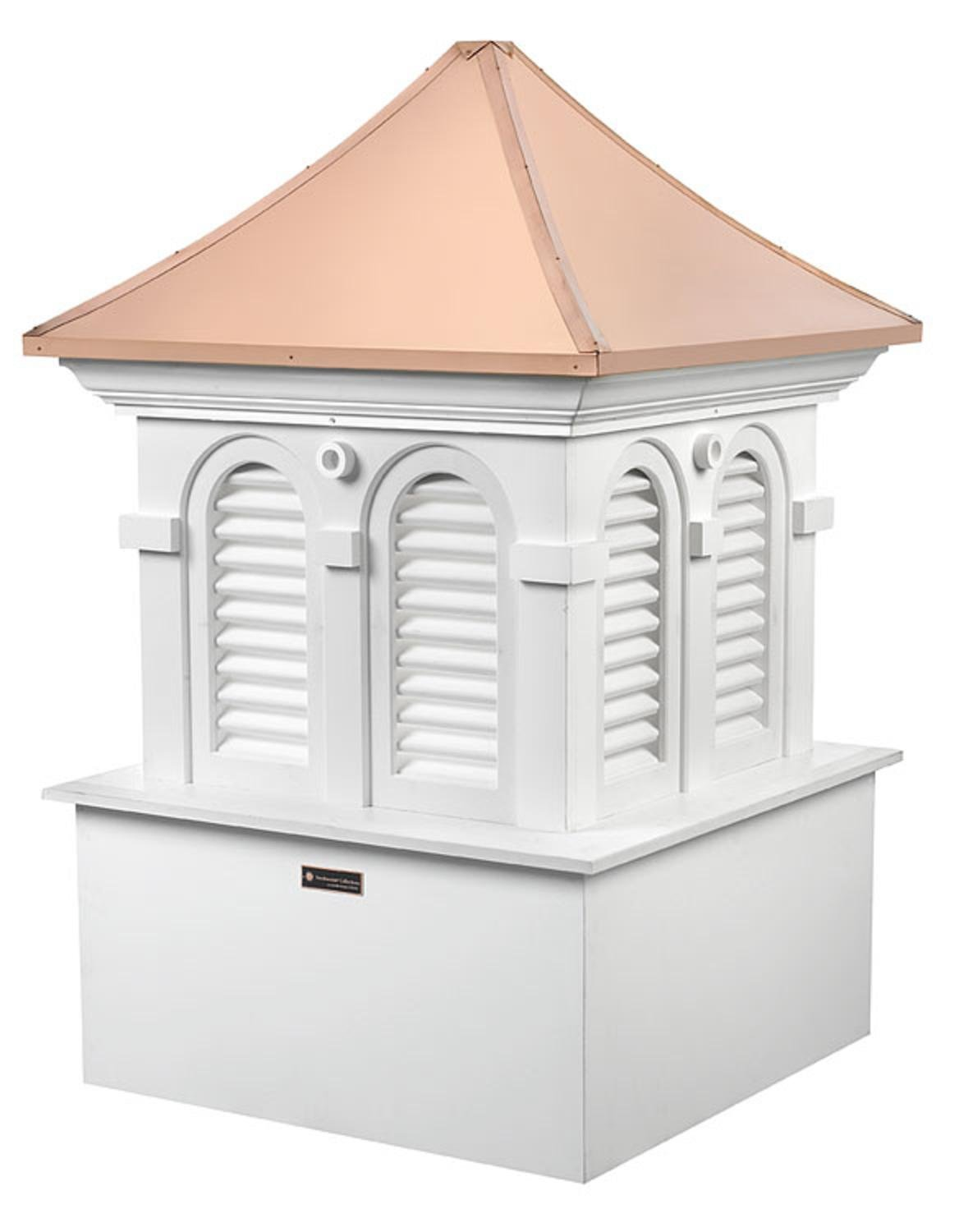 91'' Smithsonian Collection Handcrafted ''Alexandria'' Copper and Vinyl Roof Cupola