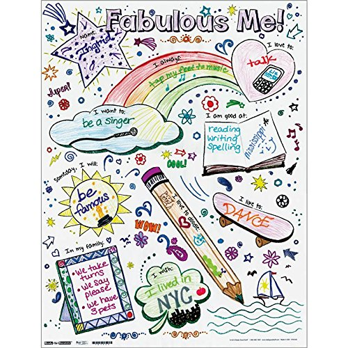 Ready-to-Decorate Fabulous Me! Posters - Set of 24 -