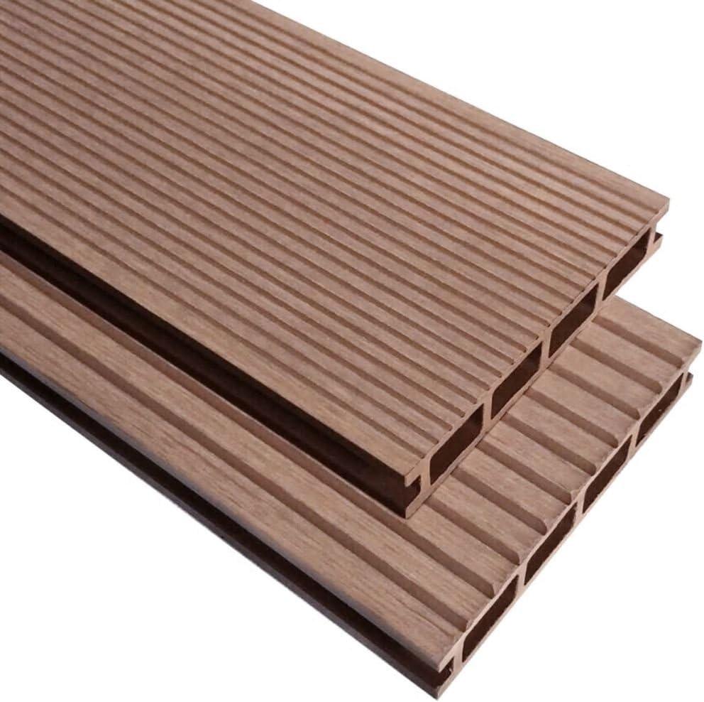 Tidyard WPC - Baldosas para terraza con accesorios de montaje, 30 m², 2,2 m, baldosas para balcón o terraza