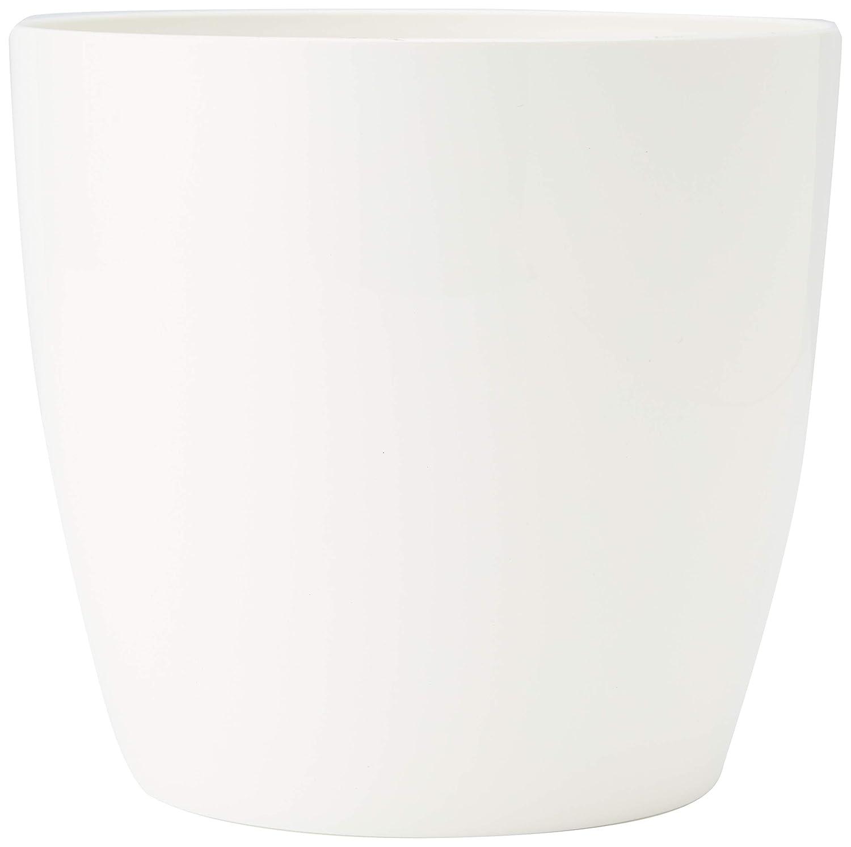 White Elho Brussels Diamond Round 14 /Ø 13.7 x H 12.6 cm Indoor Flowerpot